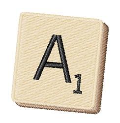 Scrabble Chip A embroidery design