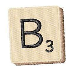 Scrabble Chip B embroidery design