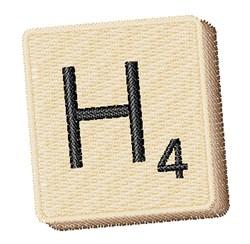 Scrabble Chip H embroidery design