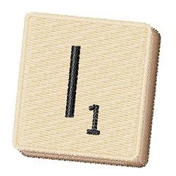 Scrabble Chip I embroidery design
