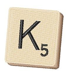 Scrabble Chip K embroidery design