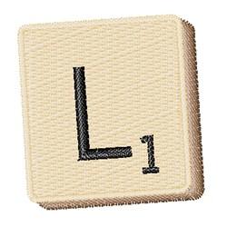 Scrabble Chip L embroidery design