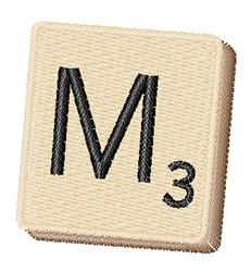 Scrabble Chip M embroidery design