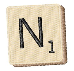 Scrabble Chip N embroidery design