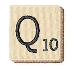 Scrabble Chip Q embroidery design