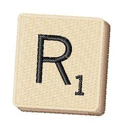 Scrabble Chip R embroidery design