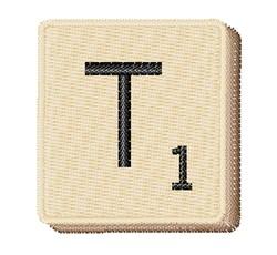 Scrabble Chip T embroidery design