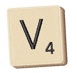 Scrabble Chip V embroidery design