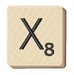 Scrabble Chip X embroidery design