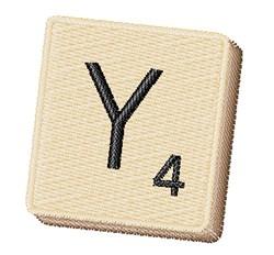 Scrabble Chip Y embroidery design