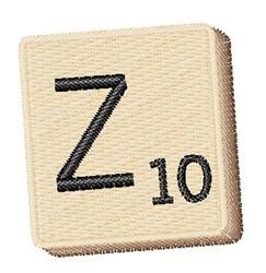 Scrabble Chip Z embroidery design