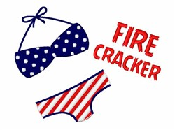 Fire Cracker embroidery design