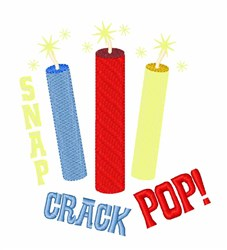 Snap Crack Pop embroidery design