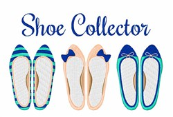 Shoe Collector embroidery design