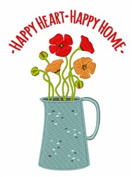 Happy Heart & Home embroidery design