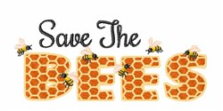 Save The Bees embroidery design