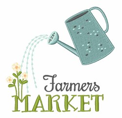 Farmers Market embroidery design