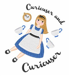 Curiouser And Curiouser embroidery design