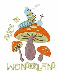 Alice In Wonderland embroidery design