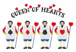 Queen Of Hearts embroidery design