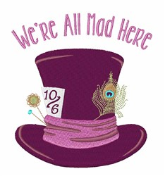 Were All Mad embroidery design