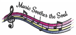 Music Soothes embroidery design