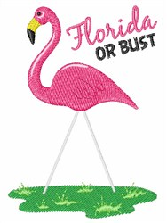 Florida Or Bust embroidery design
