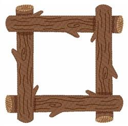 Log Frame embroidery design