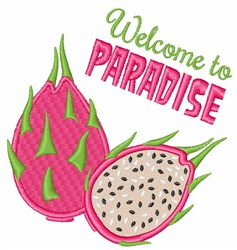 Welcome To Paradise embroidery design