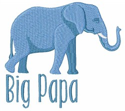 Big Papa embroidery design