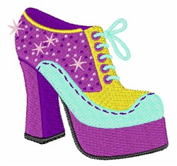 Groovy Shoe embroidery design