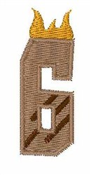 Grill Master Font 6 embroidery design