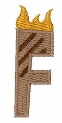 Grill Master Font F embroidery design