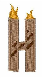 Grill Master Font H embroidery design