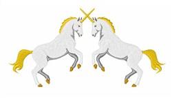 Unicorns embroidery design