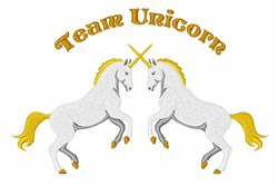 Team Unicorn embroidery design
