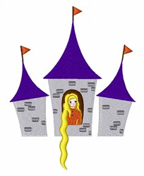 Rapunzel embroidery design