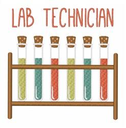 Lab Technician embroidery design