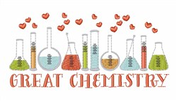 Great Chemistry embroidery design