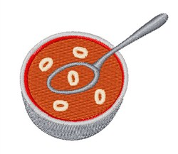 Alphabet Soup Font 0 embroidery design