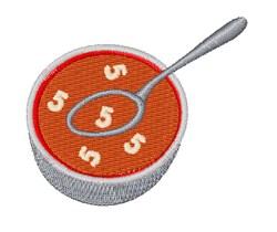 Alphabet Soup Font 5 embroidery design