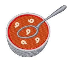 Alphabet Soup Font 9 embroidery design