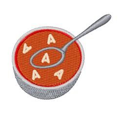 Alphabet Soup Font A embroidery design