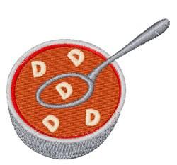 Alphabet Soup Font D embroidery design