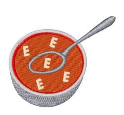 Alphabet Soup Font E embroidery design