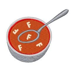 Alphabet Soup Font F embroidery design