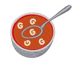 Alphabet Soup Font G embroidery design