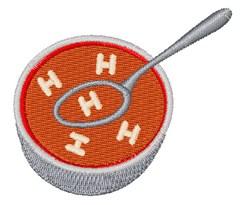 Alphabet Soup Font H embroidery design