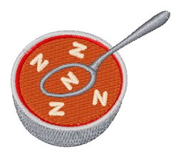 Alphabet Soup Font N embroidery design