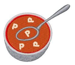Alphabet Soup Font P embroidery design